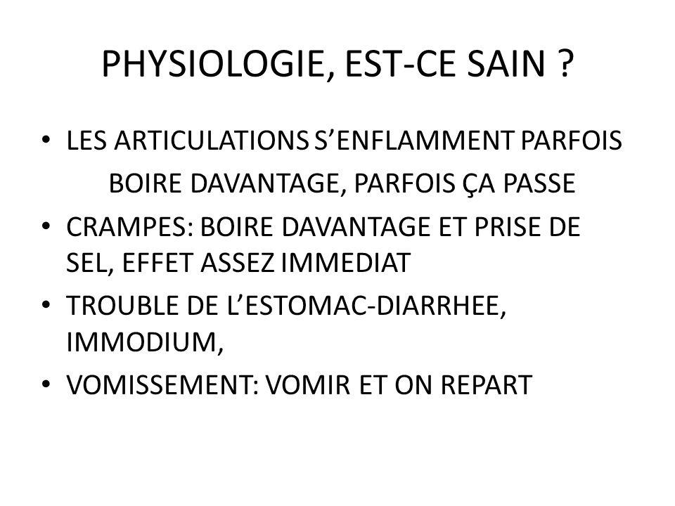 PHYSIOLOGIE, EST-CE SAIN