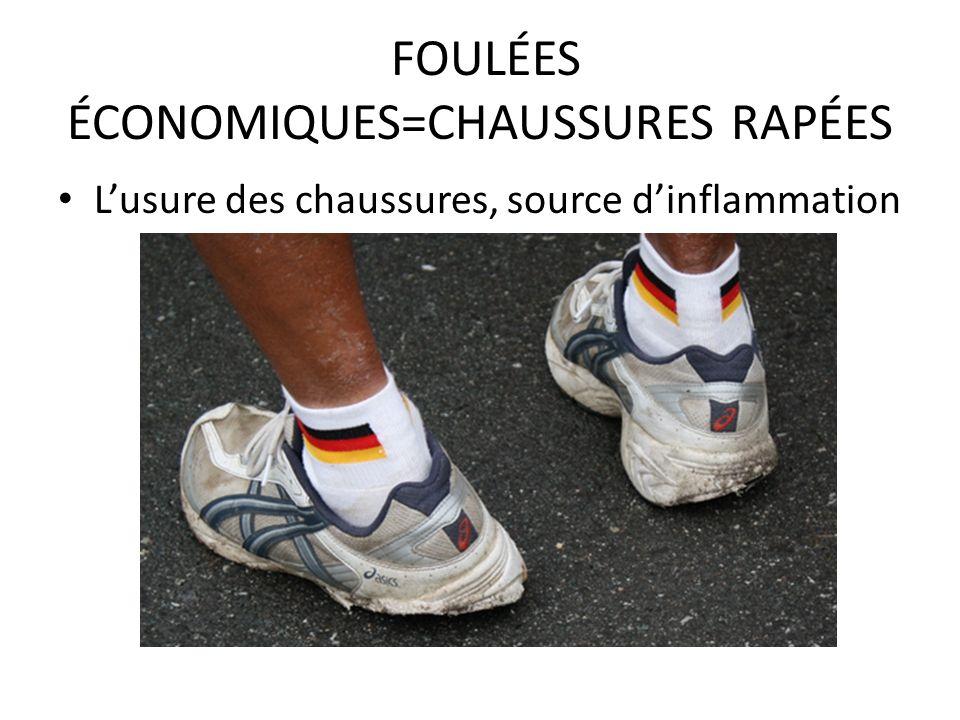 FOULÉES ÉCONOMIQUES=CHAUSSURES RAPÉES