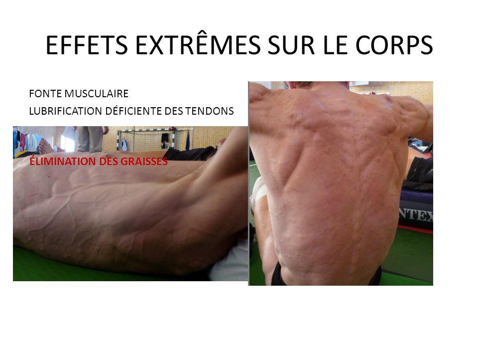 EFFETS EXTRÊMES SUR LE CORPS