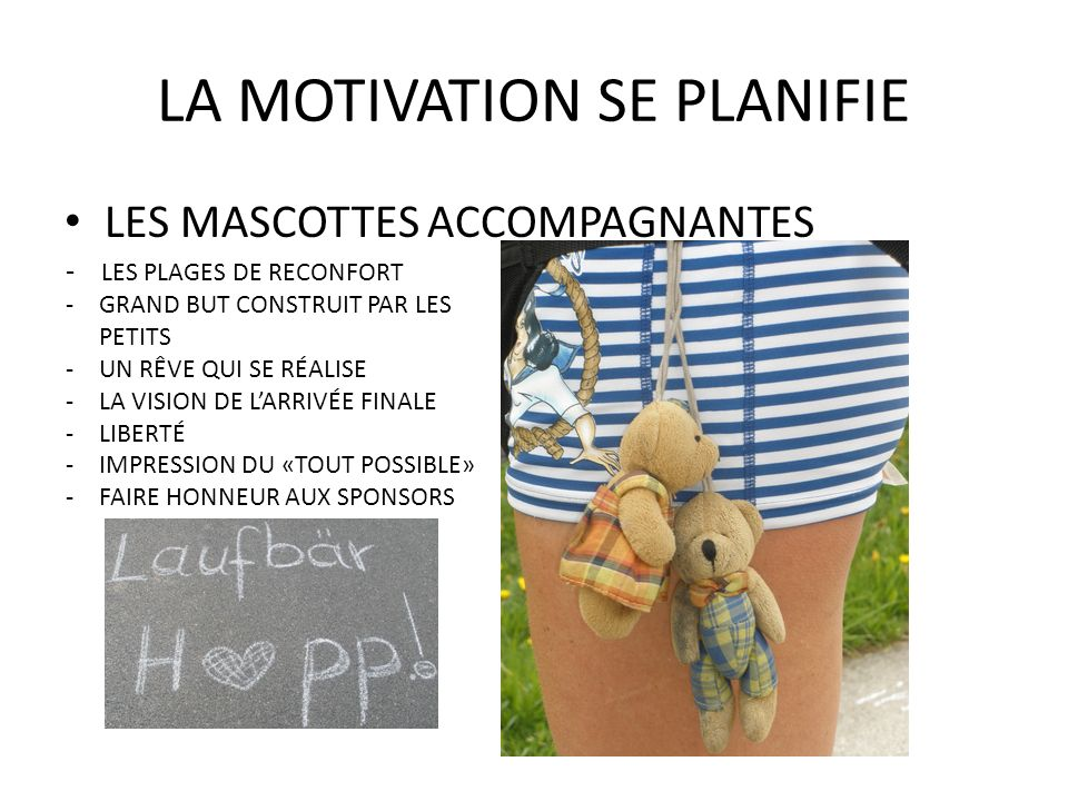 LA MOTIVATION SE PLANIFIE