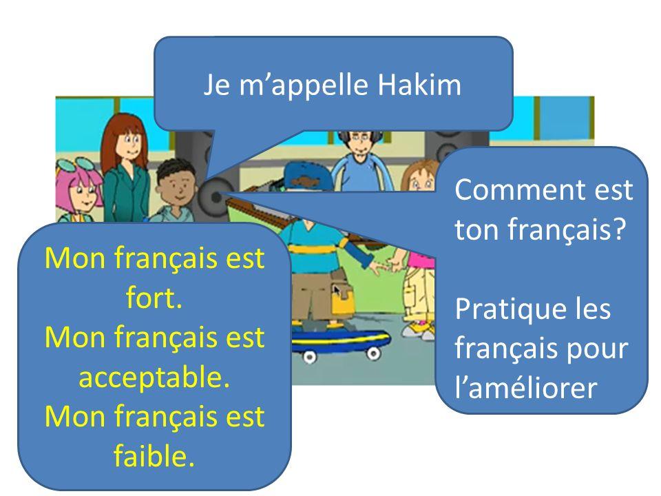 Comment est ton français