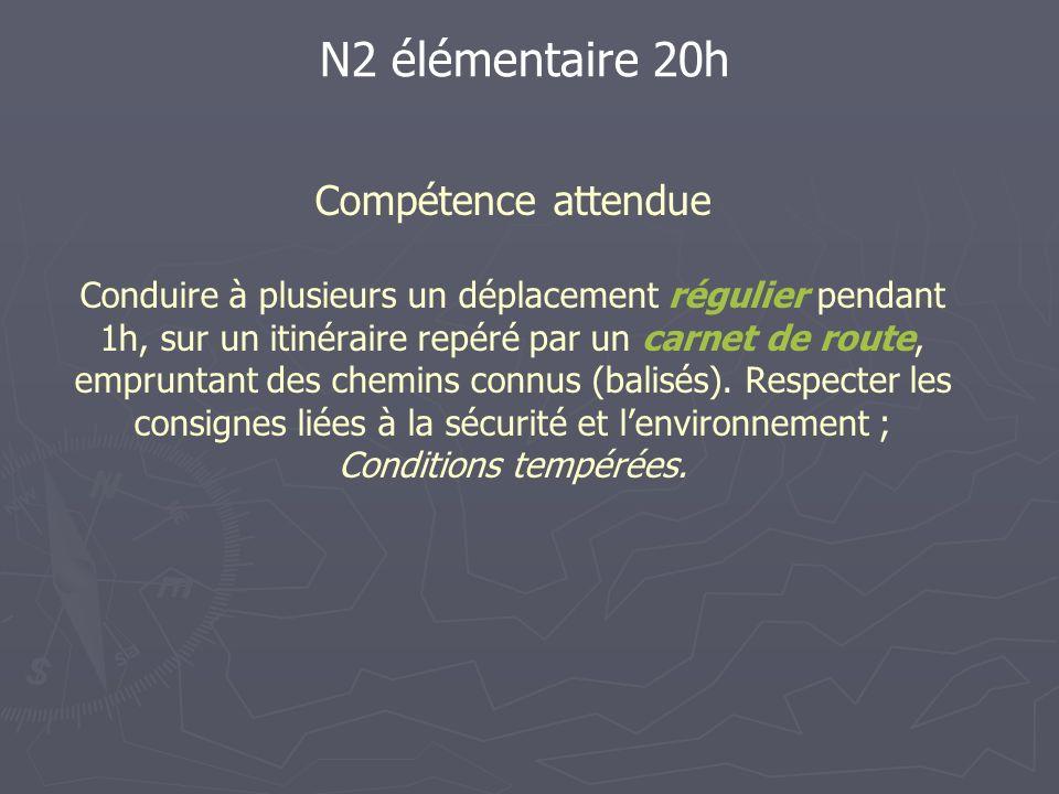 N2 élémentaire 20h