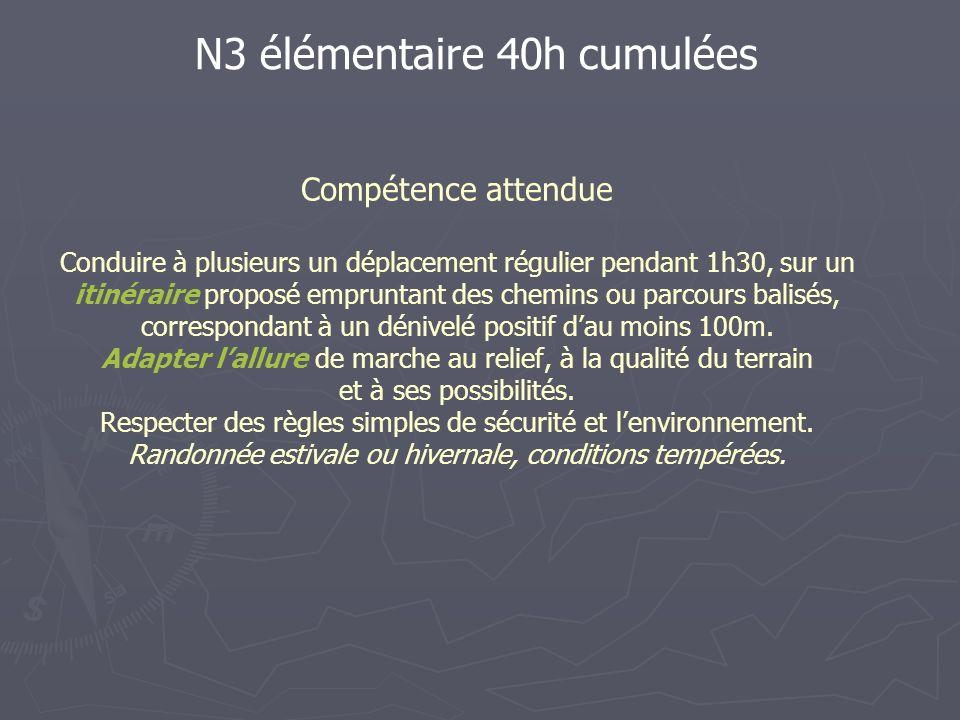 N3 élémentaire 40h cumulées