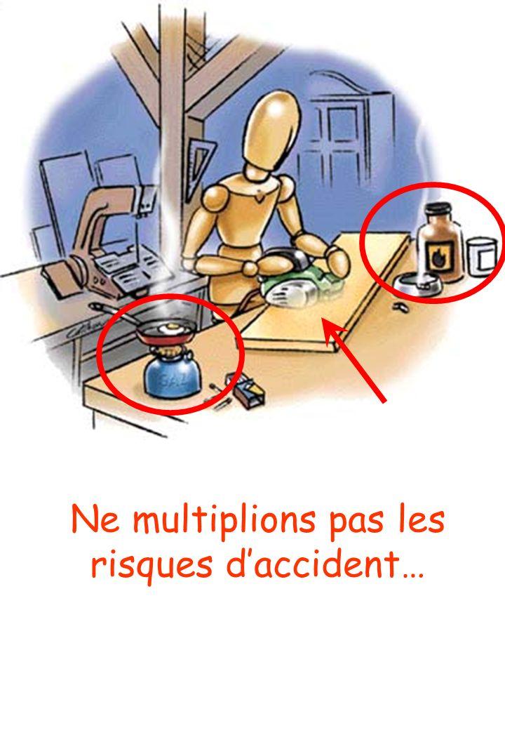 Ne multiplions pas les risques d'accident…