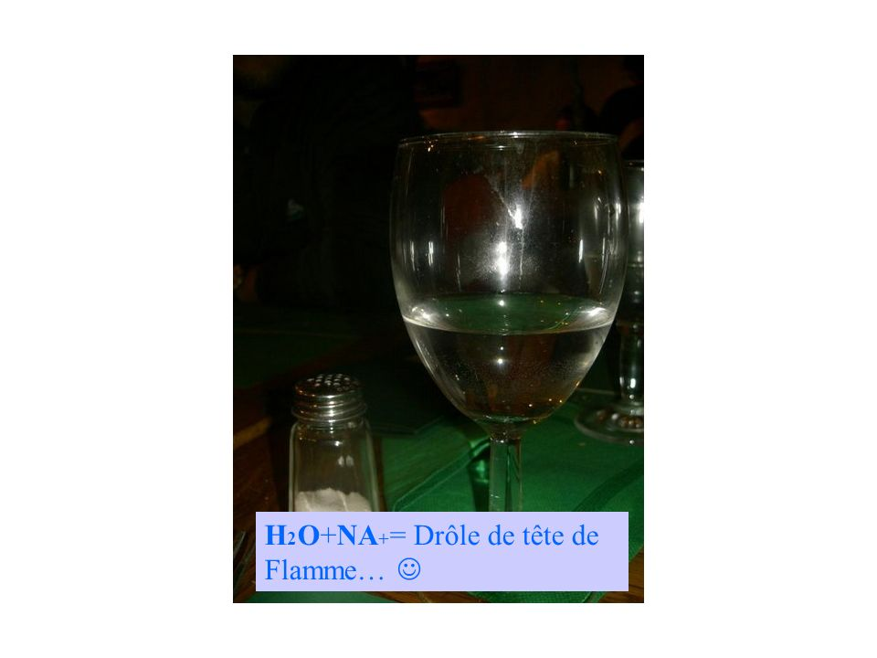 H2O+NA+= Drôle de tête de Flamme… 