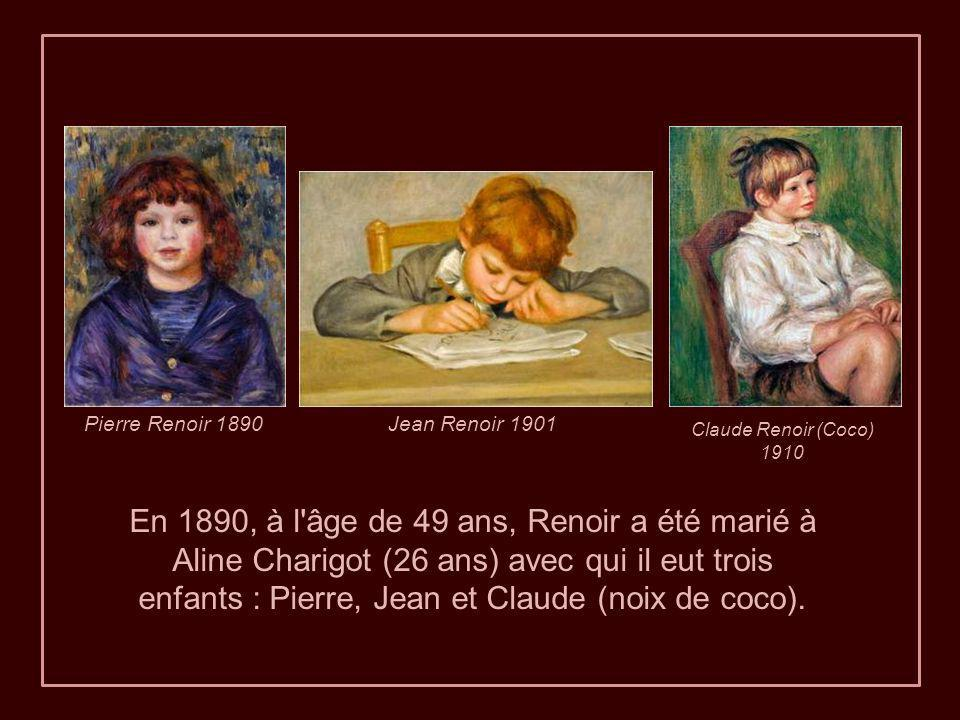 Pierre Renoir 1890 Jean Renoir 1901. Claude Renoir (Coco) 1910.
