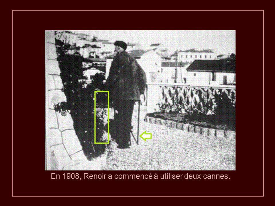 En 1908, Renoir a commencé à utiliser deux cannes.