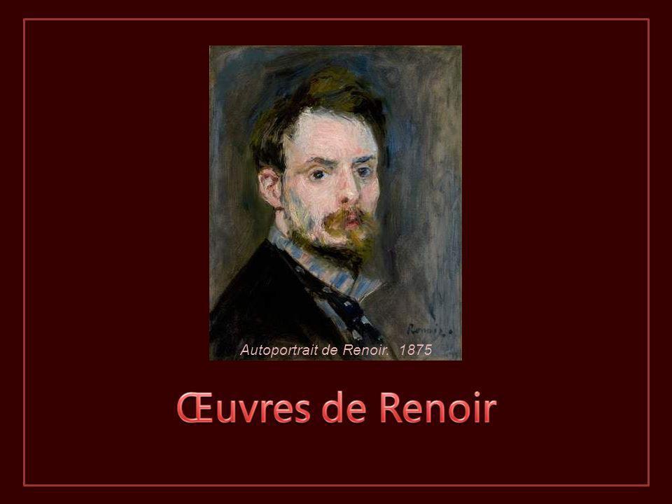 Autoportrait de Renoir. 1875