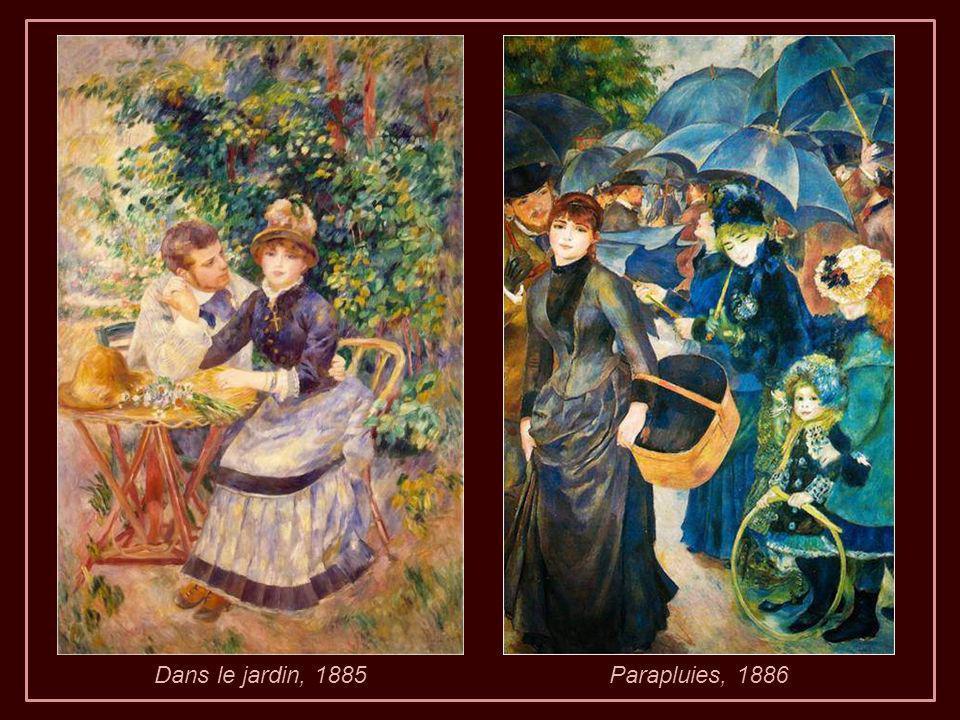 Dans le jardin, 1885 Parapluies, 1886