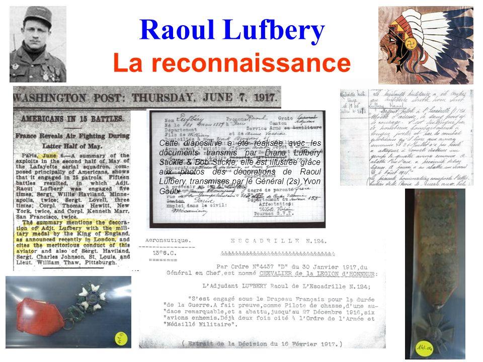 Raoul Lufbery La reconnaissance