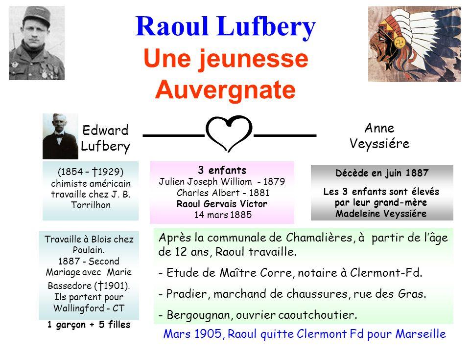 Raoul Lufbery Une jeunesse Auvergnate