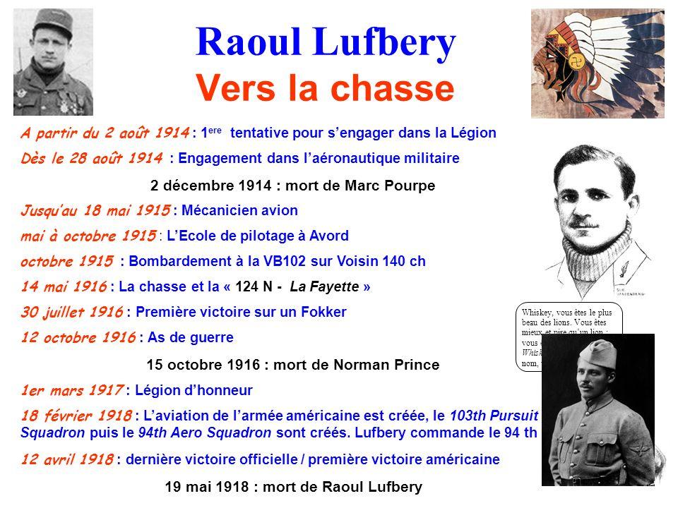 Raoul Lufbery Vers la chasse