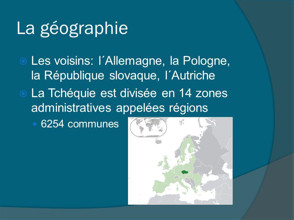 La géographie Les voisins: l´Allemagne, la Pologne, la République slovaque, l´Autriche.