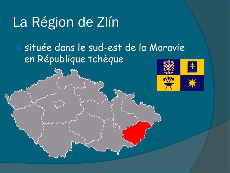 La Région de Zlín située dans le sud-est de la Moravie en République tchèque