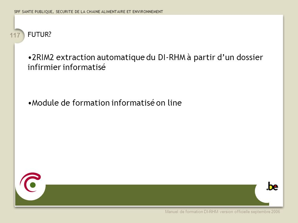 Module de formation informatisé on line