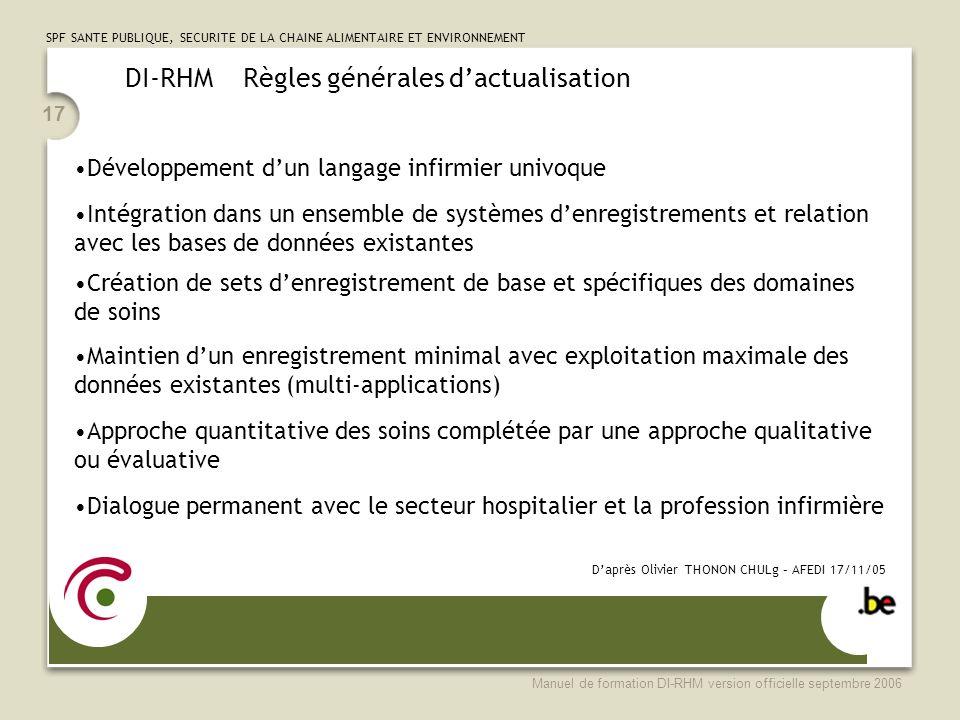 DI-RHM Règles générales d'actualisation