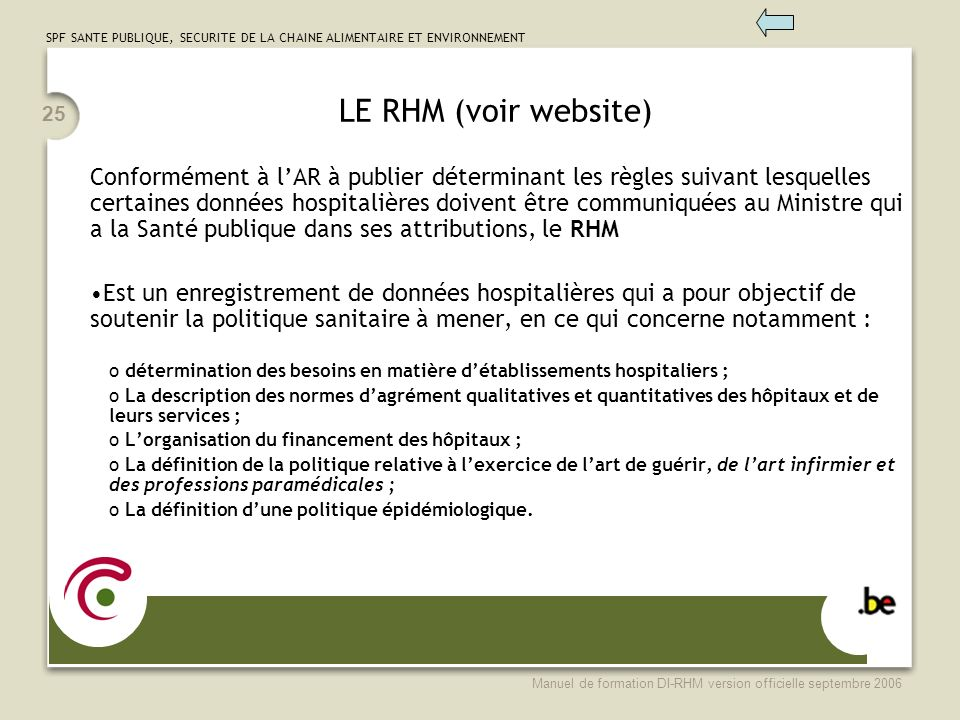 LE RHM (voir website)