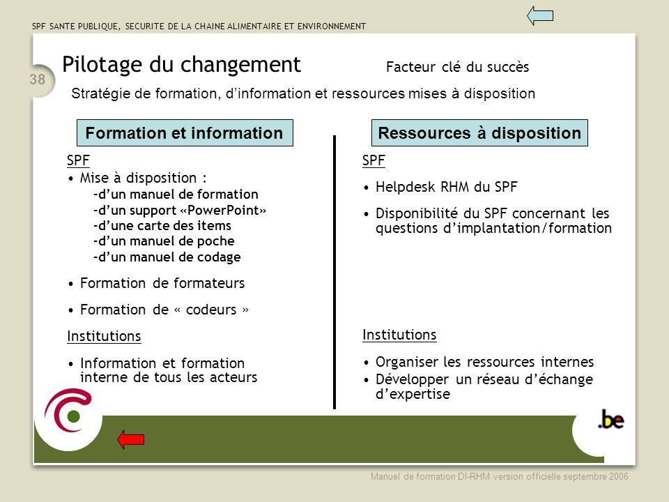 Formation et information Ressources à disposition