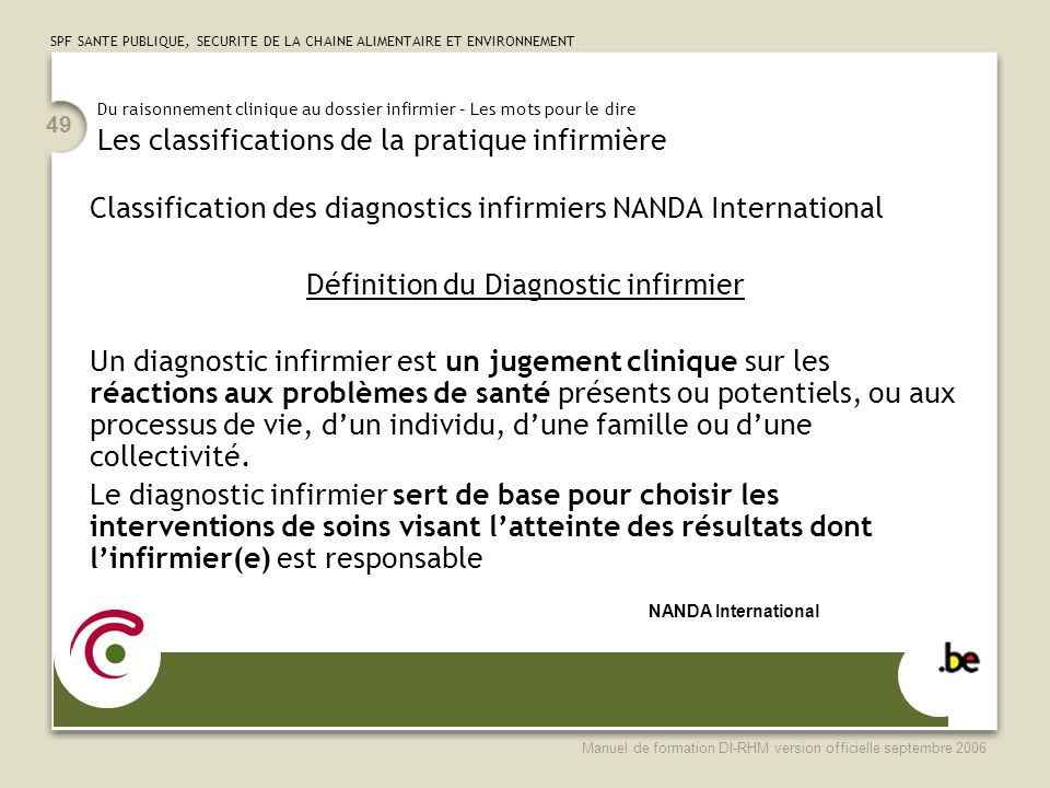 Définition du Diagnostic infirmier