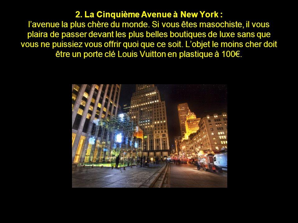 2. La Cinquième Avenue à New York : l'avenue la plus chère du monde