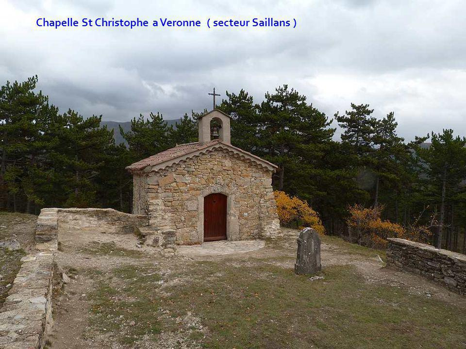 Chapelle St Christophe a Veronne ( secteur Saillans )