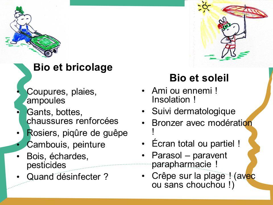 Bio et bricolage Bio et soleil Coupures, plaies, ampoules