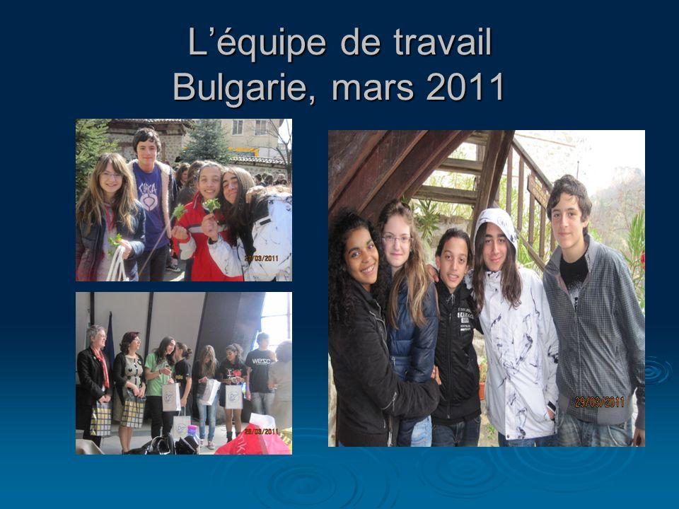 L'équipe de travail Bulgarie, mars 2011