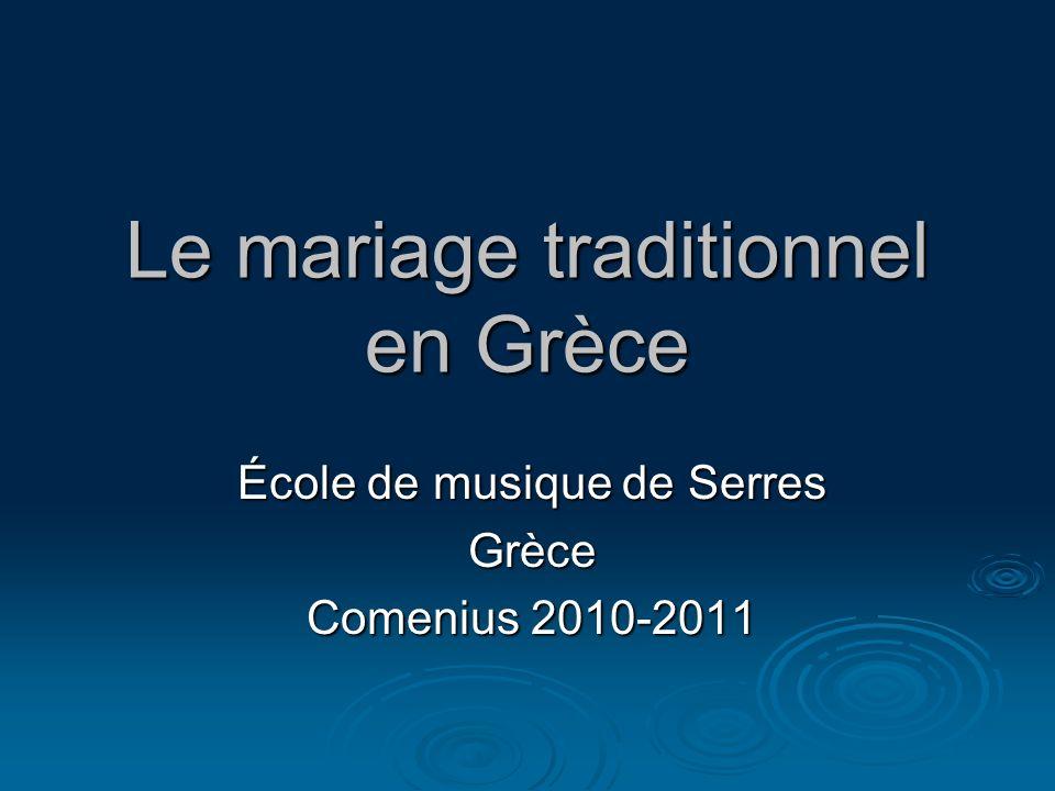 Le mariage traditionnel en Grèce
