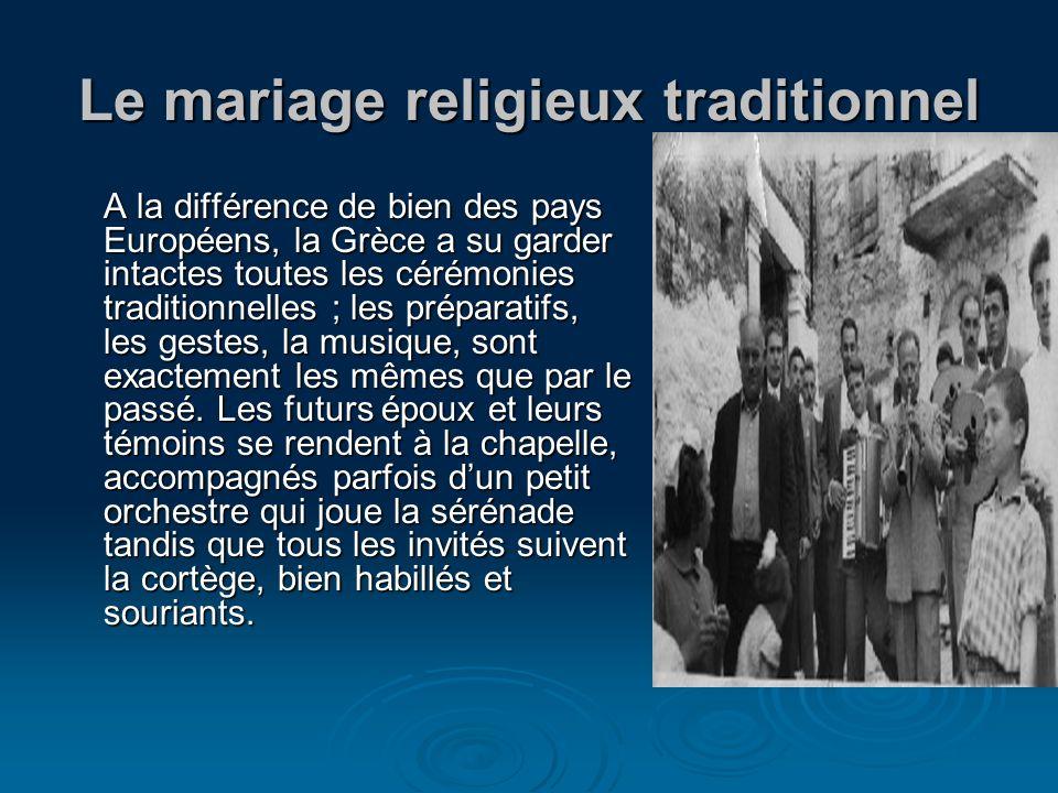 Le mariage religieux traditionnel