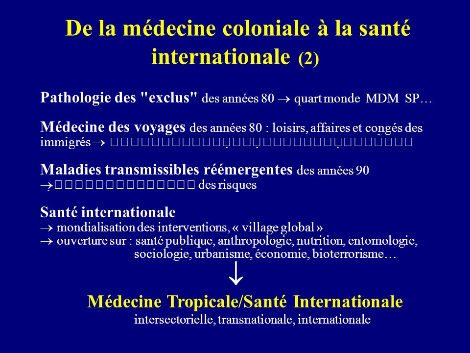 De la médecine coloniale à la santé internationale (2)