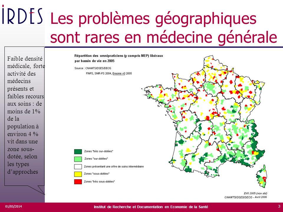 Les problèmes géographiques sont rares en médecine générale