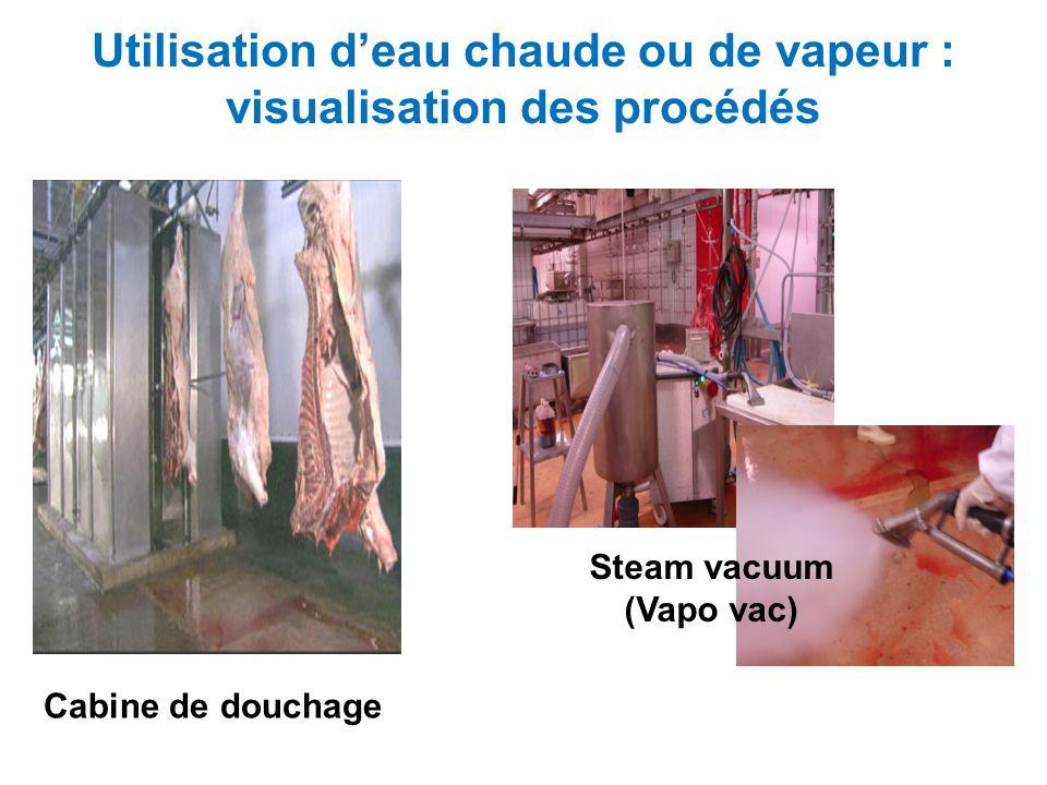 Utilisation d'eau chaude ou de vapeur : visualisation des procédés