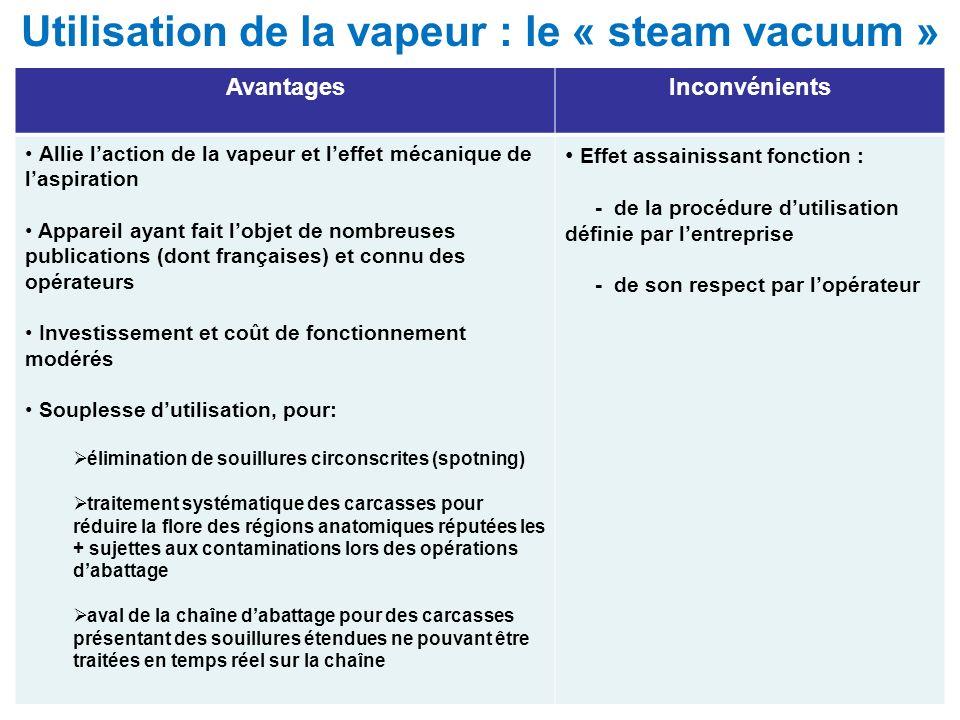 Utilisation de la vapeur : le « steam vacuum »