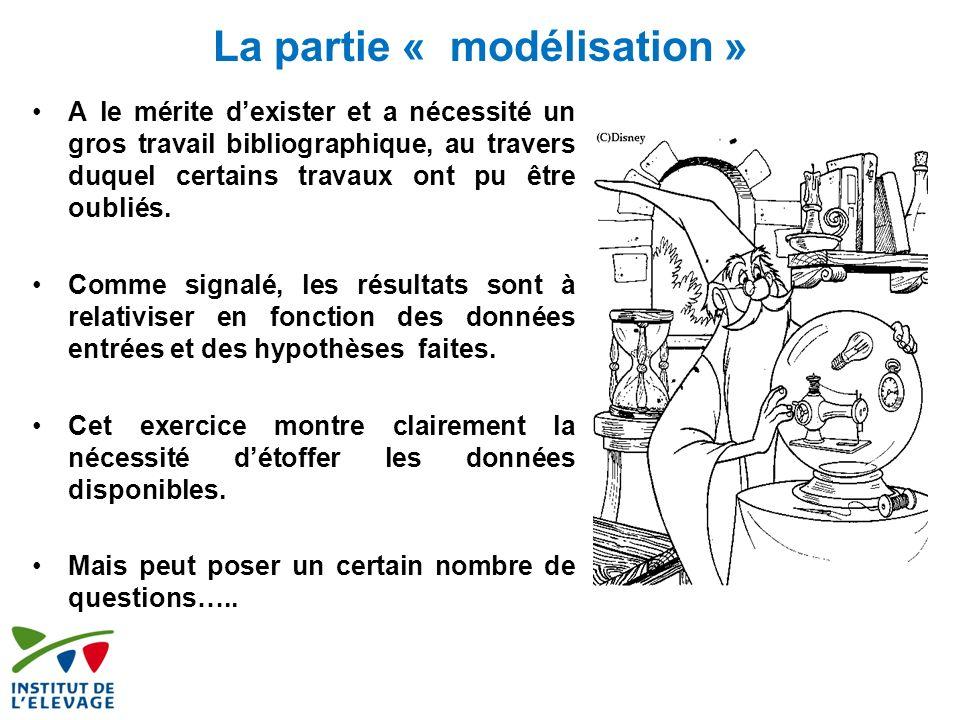 La partie « modélisation »