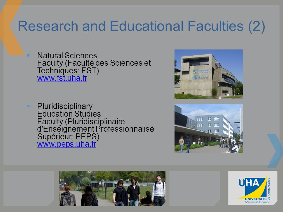 Research and Educational Faculties (2)