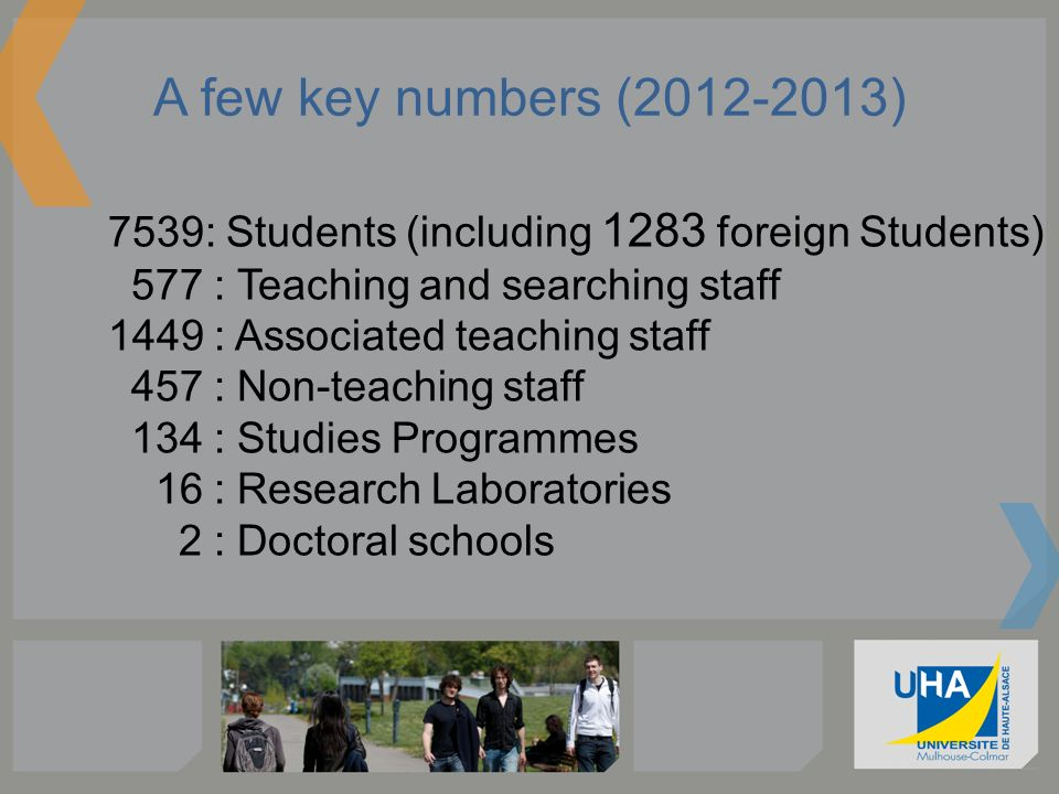 A few key numbers (2012-2013)