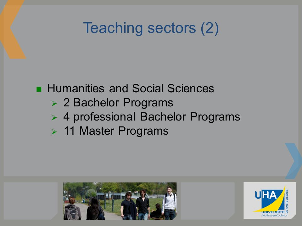 Teaching sectors (2) Humanities and Social Sciences