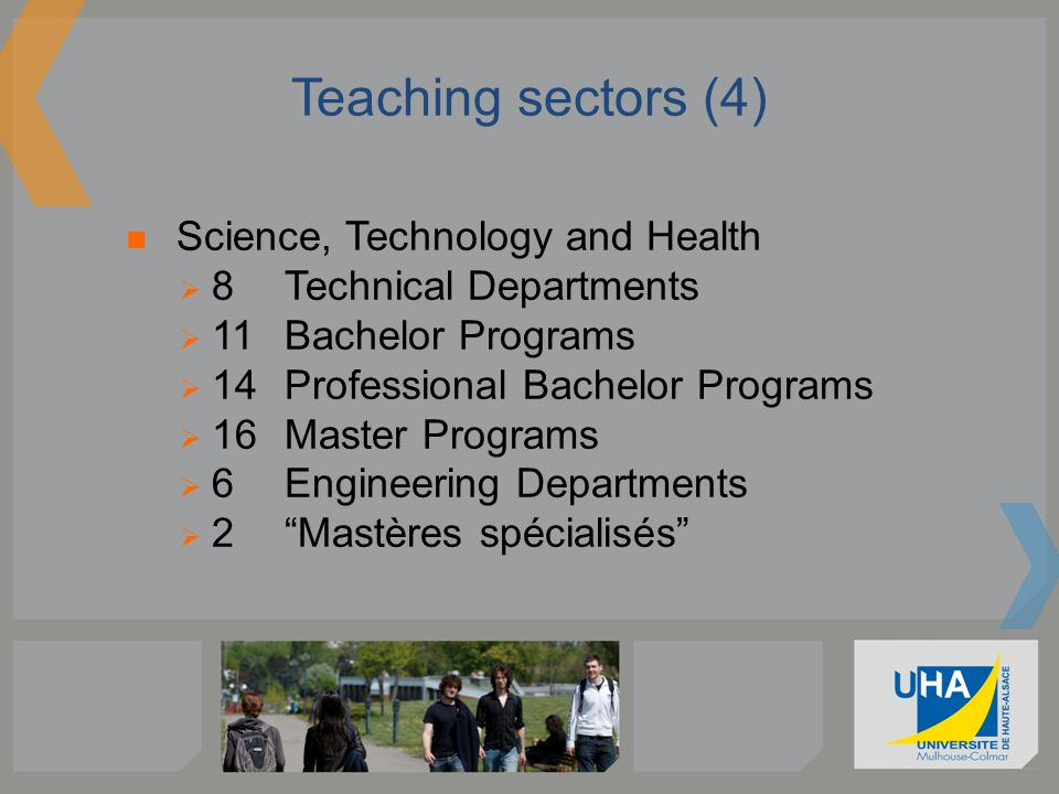 Teaching sectors (4) Science, Technology and Health
