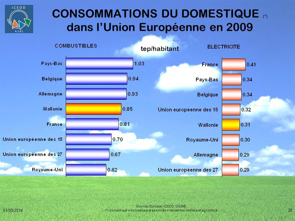 CONSOMMATIONS DU DOMESTIQUE (