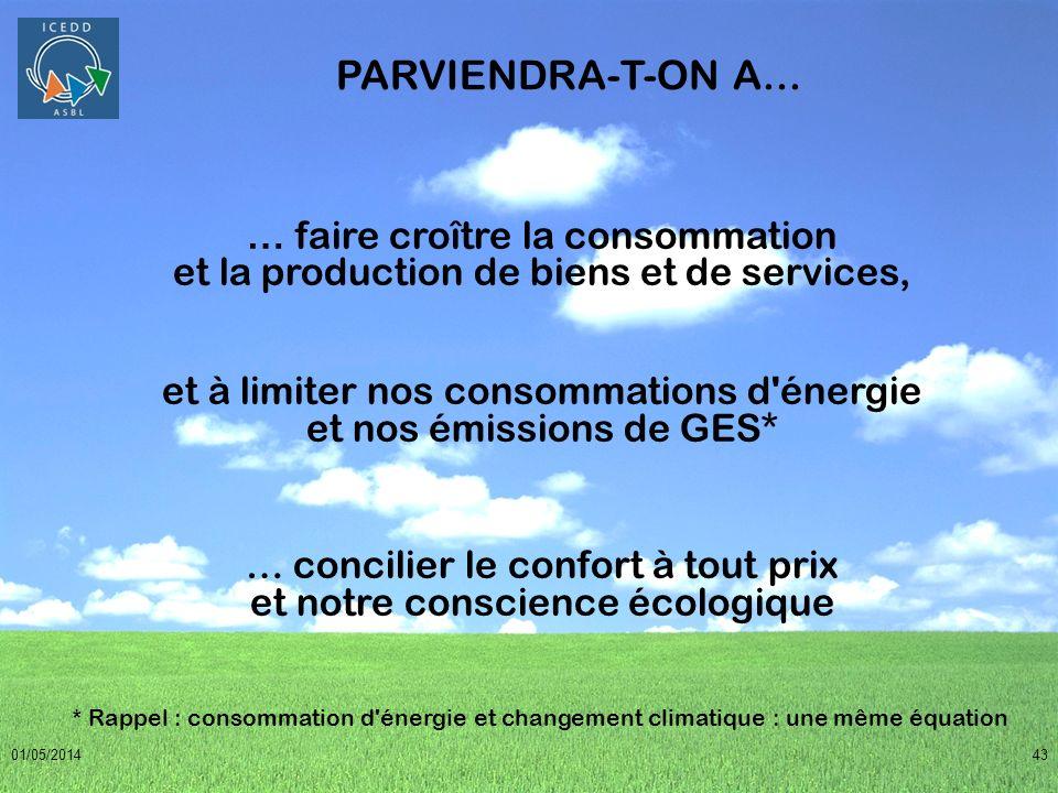 PARVIENDRA-T-ON A... … faire croître la consommation et la production de biens et de services,