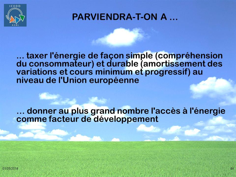 PARVIENDRA-T-ON A ...