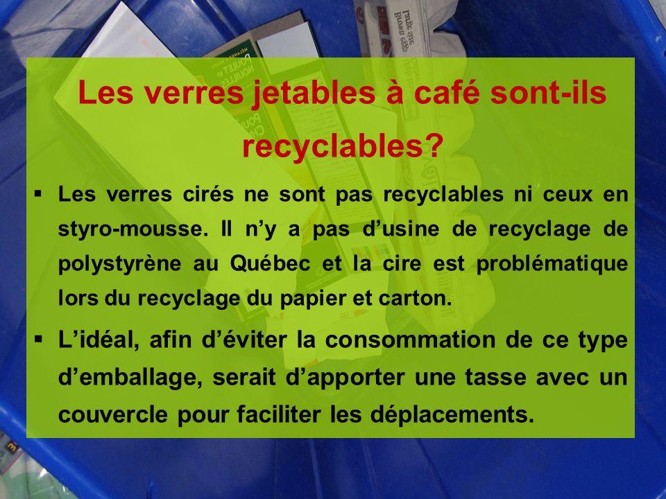 Les verres jetables à café sont-ils recyclables