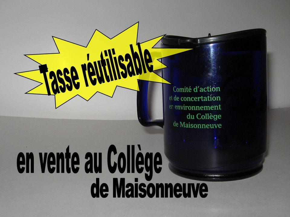 Tasse réutilisable en vente au Collège de Maisonneuve