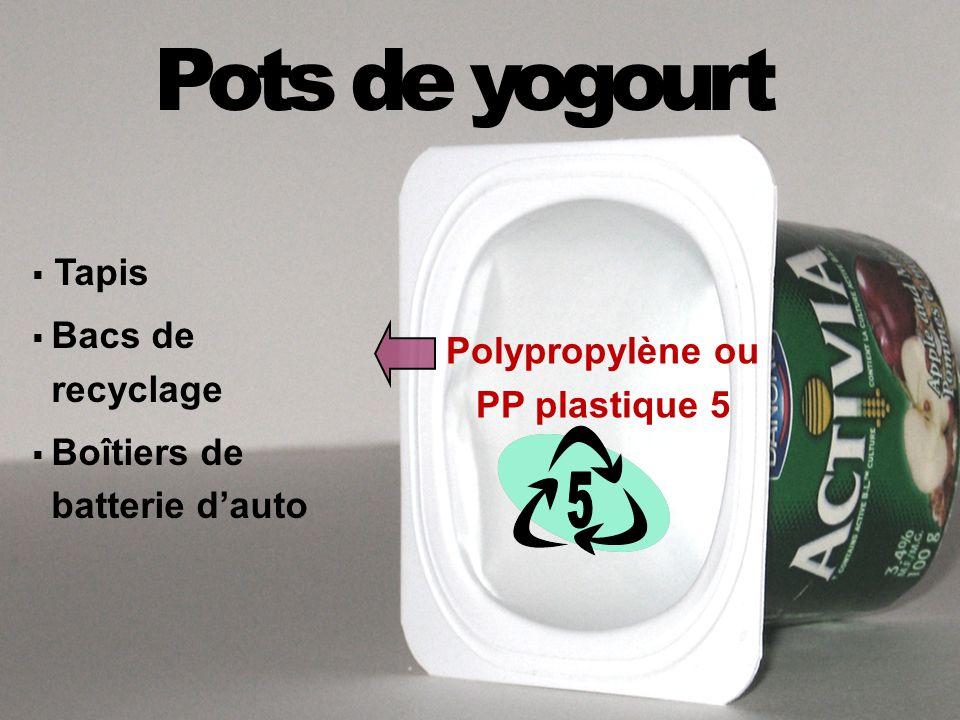 Pots de yogourt 5 Tapis Bacs de recyclage Boîtiers de batterie d'auto