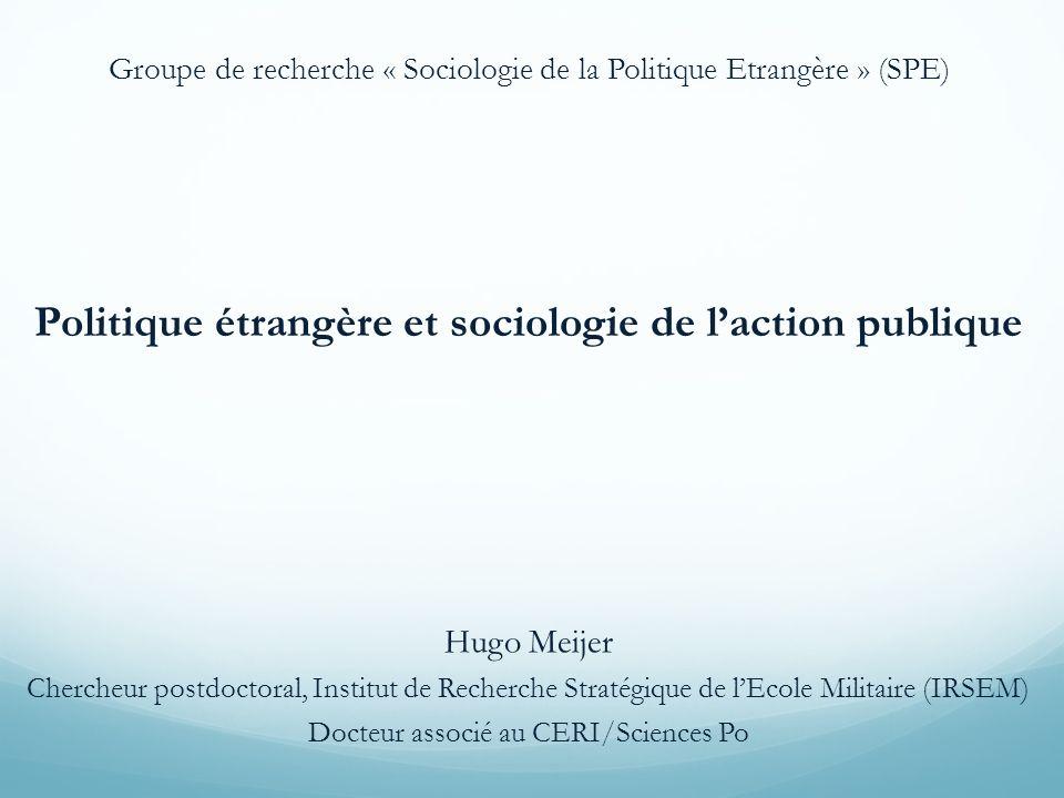 Politique étrangère et sociologie de l'action publique
