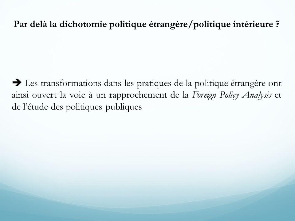 Par delà la dichotomie politique étrangère/politique intérieure