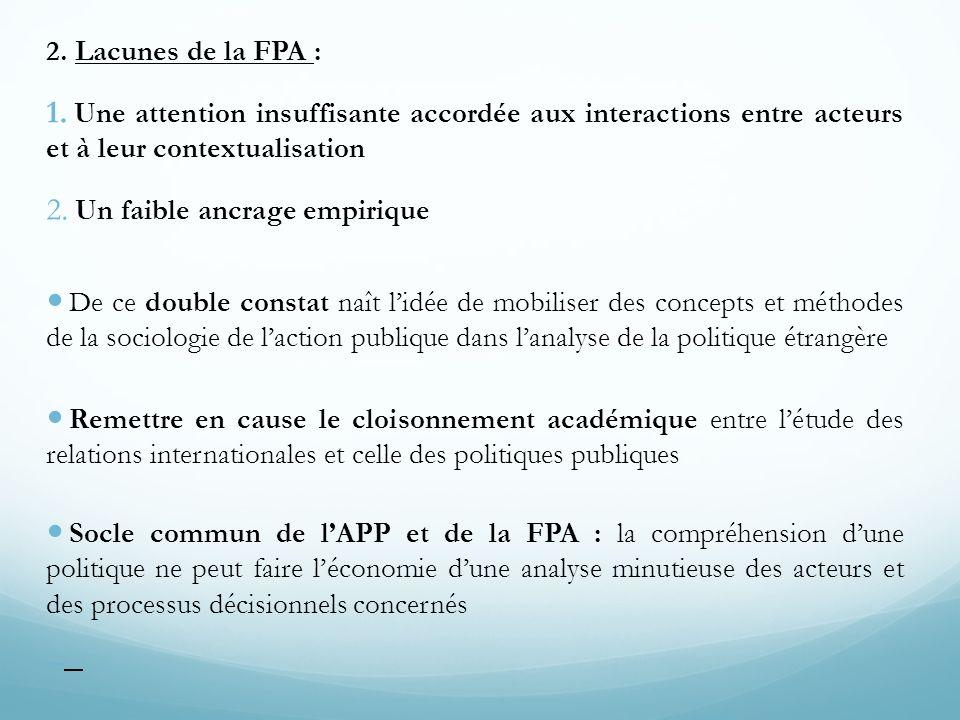 2. Lacunes de la FPA : Une attention insuffisante accordée aux interactions entre acteurs et à leur contextualisation