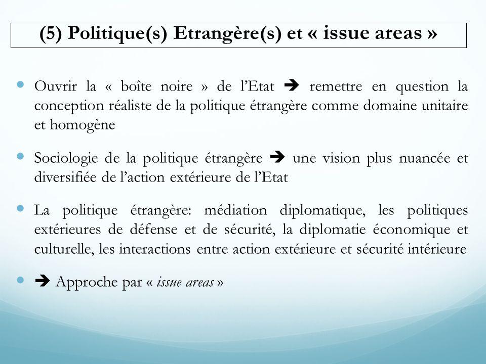 (5) Politique(s) Etrangère(s) et « issue areas »