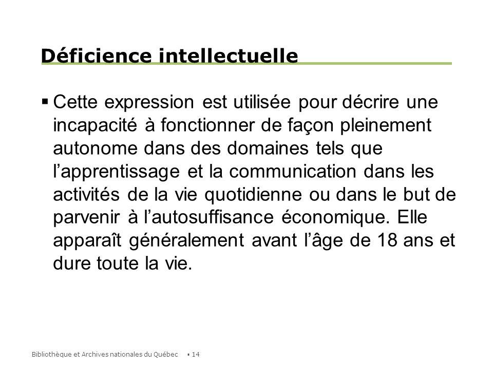 Déficience intellectuelle