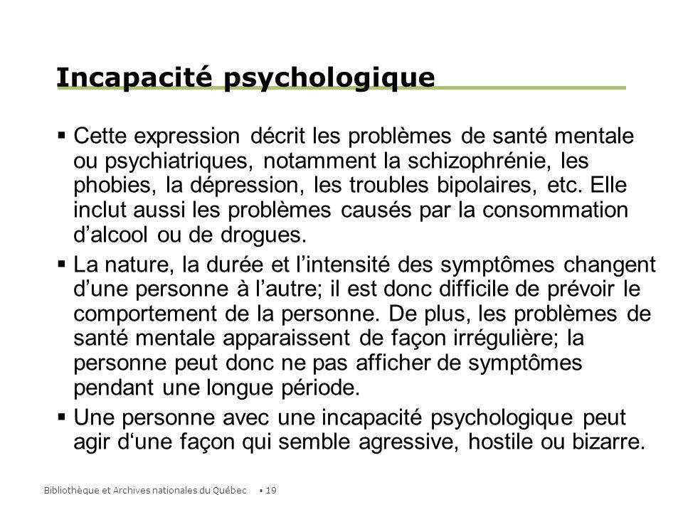 Incapacité psychologique